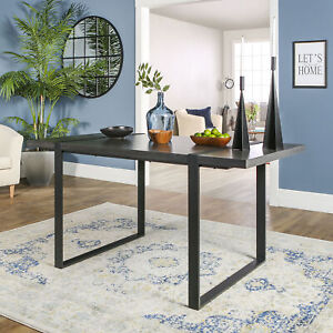 Rustic Distressed Weathered Grey Wood Metal Dining Table ...