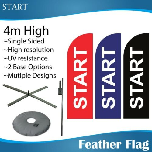 4m Outdoor START Flags Feather Banner Feather Flag with Base