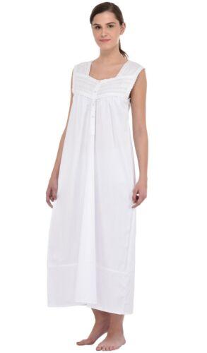 da bianca da cotone in notte donna vintage Camicia 8OqdwF8