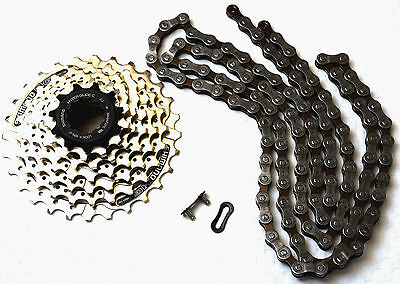 Humorous Bici Usura Set 21 Gang Catena Shimano Hg40,kassettehg41,11-28 Z Unequal In Performance Cassettes, Freewheels & Cogs
