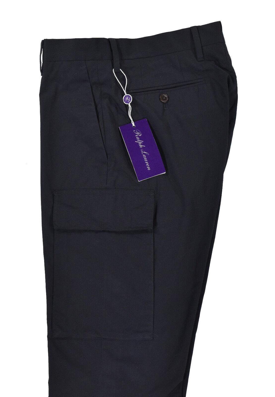Ralph Lauren Purple Label Navy Cotton Cargo Dress Pants New