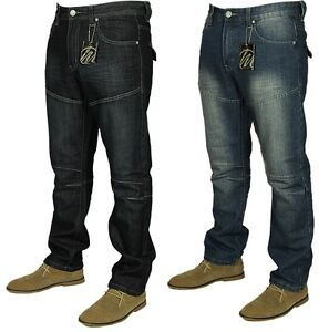 KAM-Mens-Straight-Leg-Casual-Blue-Indigo-Jeans-Denim-Trousers-Sizes-30-40