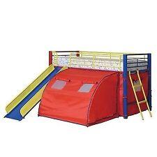 kids loft bed with slide full size 0021032229863 coaster kids bunk loft bed slide camouflage tent play fun children kid bedroom
