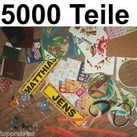 5000x Sticker Adressbuch Armband Holzbuchstaben Wurfmaterial Schausteller Posten