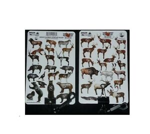 full-color-score-card-holder-arrow-placment-MCKENZIE-3D-targets-deer-gator-bear