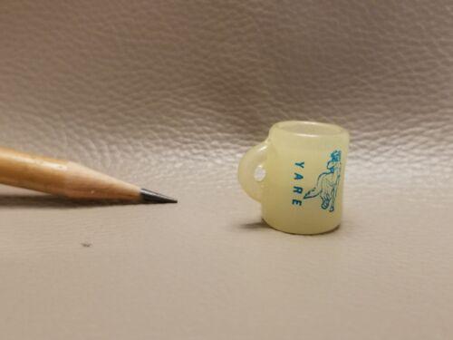 U177 Dollhouse Transparent Horse Logo Cup with ear Dinnerware Miniature 1:12
