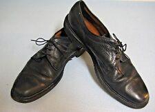 Allen Edmonds Becker Black Pebbled Leather Cap Toe Oxford Butcher 9.5 Narrow A