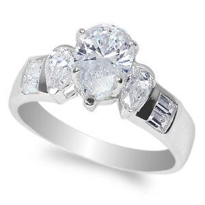 jamesjenny 10k white gold 1 5ct pear cz engagement