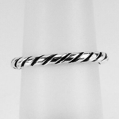 .925 Sterling Oxidized Silver Twisted Band Ring (sr50)