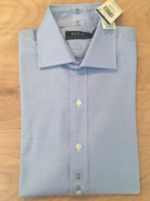 Ralph Lauren Dress Shirt Men/'s 20-34//35 BIG Classic Fit Light Blue 100/% Cotton