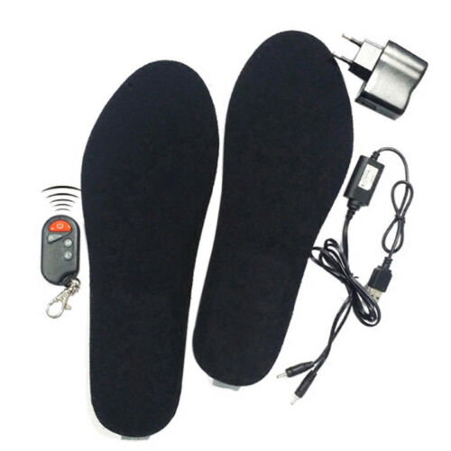 Electric Heated Shoe Insoles Foot Warmer Heater Feet Battery Warm Socks Ski Boot