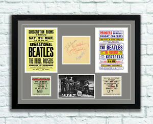 The-Beatles-Concert-Poster-Autographs-and-Tickets-Memorabilia-Poster-UNFRAMED
