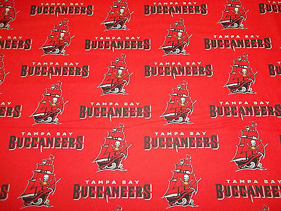 "TAMPA BAY BUCCANEERS  /"" BRAND NEW /""  DESIGN 1  REMNANT  PIECE  100/% COTTON NEW"