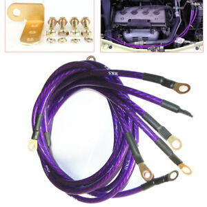 Excellent Car 5 Point Blue Grounding Kit Earth Ground Wire Cable Performance Wiring Digital Resources Funapmognl