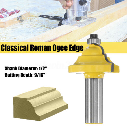 1//2/'/' Shank 9//16/'/' Classical Roman Ogee Edge Forming Router Bit Woodworking Tool