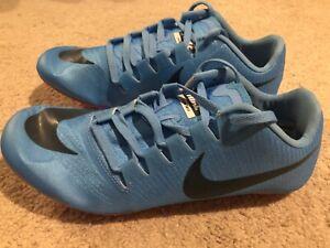 NWOB-Nike-Zoom-Ja-Fly-3-Track-Spikes-Men-039-s-US-11-Light-Blue