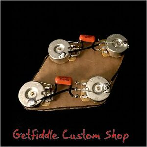 gibson les paul prewired 50s wiring harness long shaft gibson les paul 50's wiring harness cts long shaft pots ...