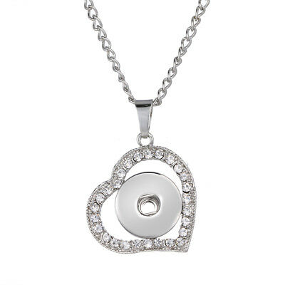 Hot Women Jewelry Necklace Pendant Fit 18mm Noosa Snap Button Wing