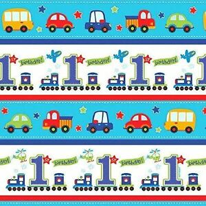 All Aboard Birthday Gift Wrap Paper Rolls Baby 1st Birthday Party
