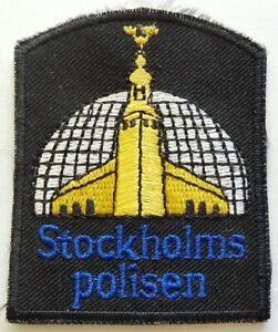Vintage Stockholms Polisen Swedish Police Shoulder Patch Flash Sweden Europe