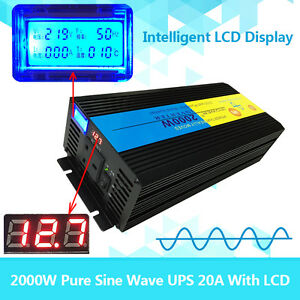 LCD-4000W-peak-2000W-Pure-Sine-Wave-Power-Inverter-12V-DC-to-230V-AC-UPS-Charger