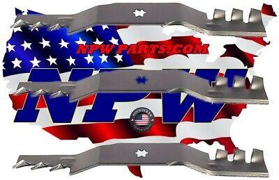 EXTREME Mulch Blades Set of 3 i1050 RZT50 SLT1050 LTX1050 ZTT50 R12809 READ NOTE