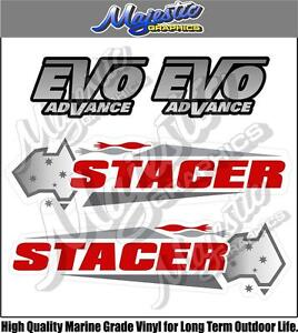 STACER - EVO ADVANCE - DECALS - NEW - BOAT DECALS