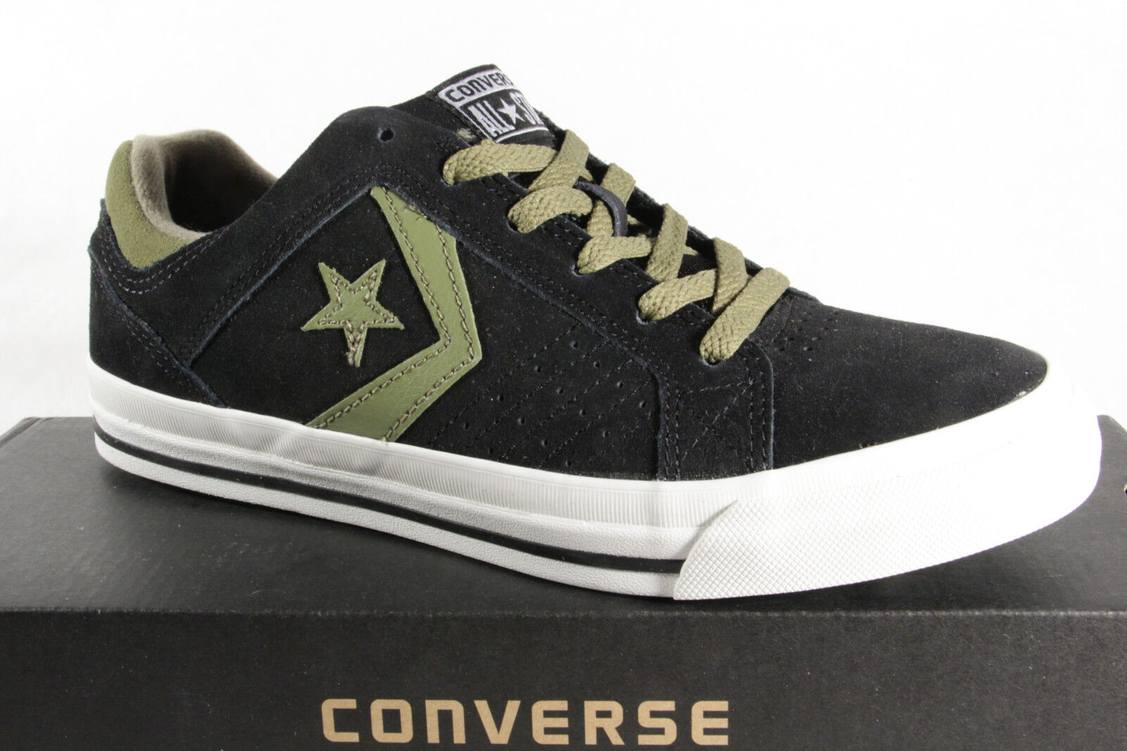Converse All Star Boots Lace Up Trainers Real Leather Blue NEW