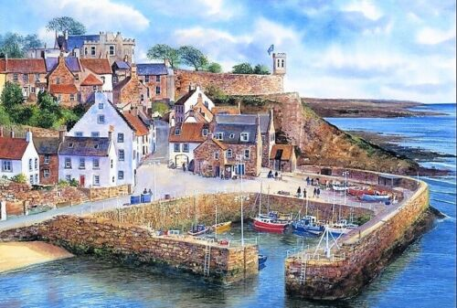 Crail Harbour B//W Cross Stitch Chart BUY 1 GET 1 HALF PRICE