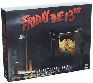 NECA-Friday-the-13th-CAMP-CRYSTAL-LAKE-SET-Accessory-Pack-NEW
