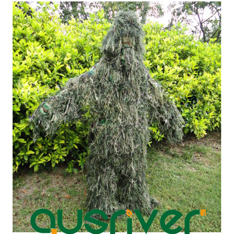 Camouflage Jungle Hunting Ghillie Suit Woodland Sniper Bird Watch Painnball