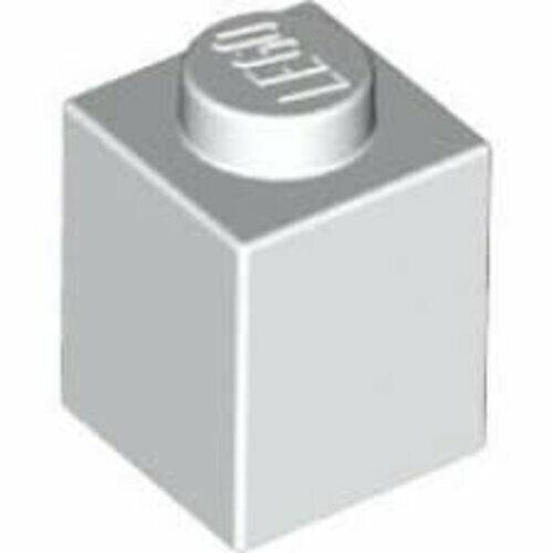 LEGO BASE pietre 1x1 BIANCO 3005 NUOVO 10-20 - 50-100 - 200 pezzi