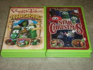 Veggietales The Star Of Christmas Vhs Lot Of 2 VHS Veggie Ta...