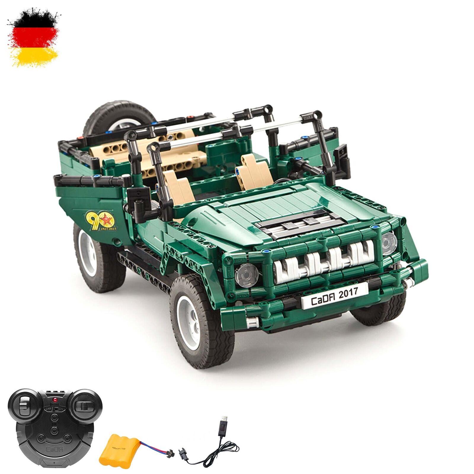 RC ferngesteuerter Militär-Fahrzeug aus Bausteinen Fernsteuerung, Auto-Modell