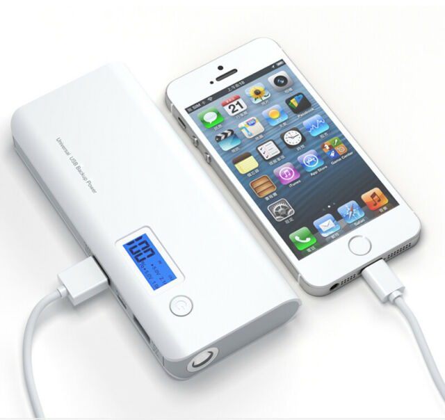 50000mAh Mobile Power Bank 2 USB LCD LED External Battery Charger For Cell Phone