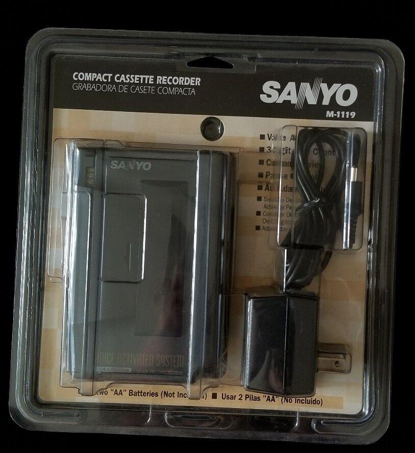 Sanyo M1119 NEW Handheld Std Cassette Voice Recorder