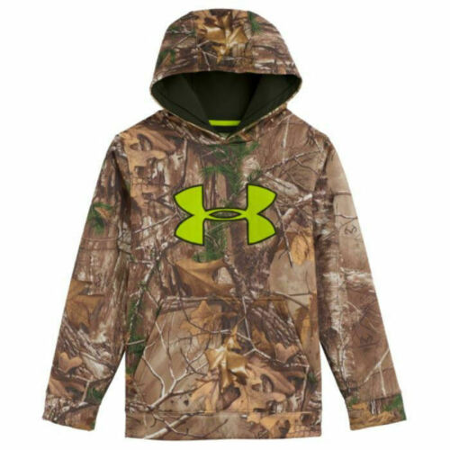 Under Armour Youth Camo Scent Control ArmourFleece Hoodie Realtree Xtra Medium