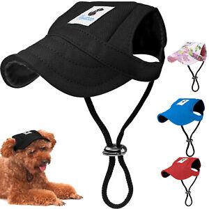 Adjustable Dog Baseball Cap Outdoor Sun Protection Hat Pet Puppy Visor Sunbonnet