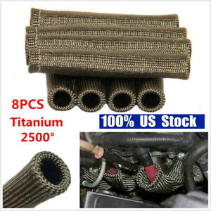 8Pcs 2500°Spark Plug Wire Boots Protector Sleeve Heat Shield Cover For LS1//LS2