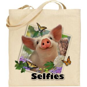 a93bcf26444 Piglet - H Robinson Fun Selfie Image Reusable Cotton Shopping Tote ...