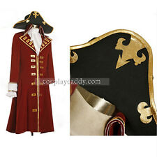 Pirate Captain Male Heart Trench Coat Set For Adult Halloween Cosplay Costume L0