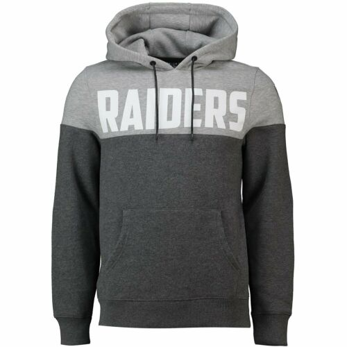 M NFL Cut /& Sew Hoody Oakland Raiders charcoal