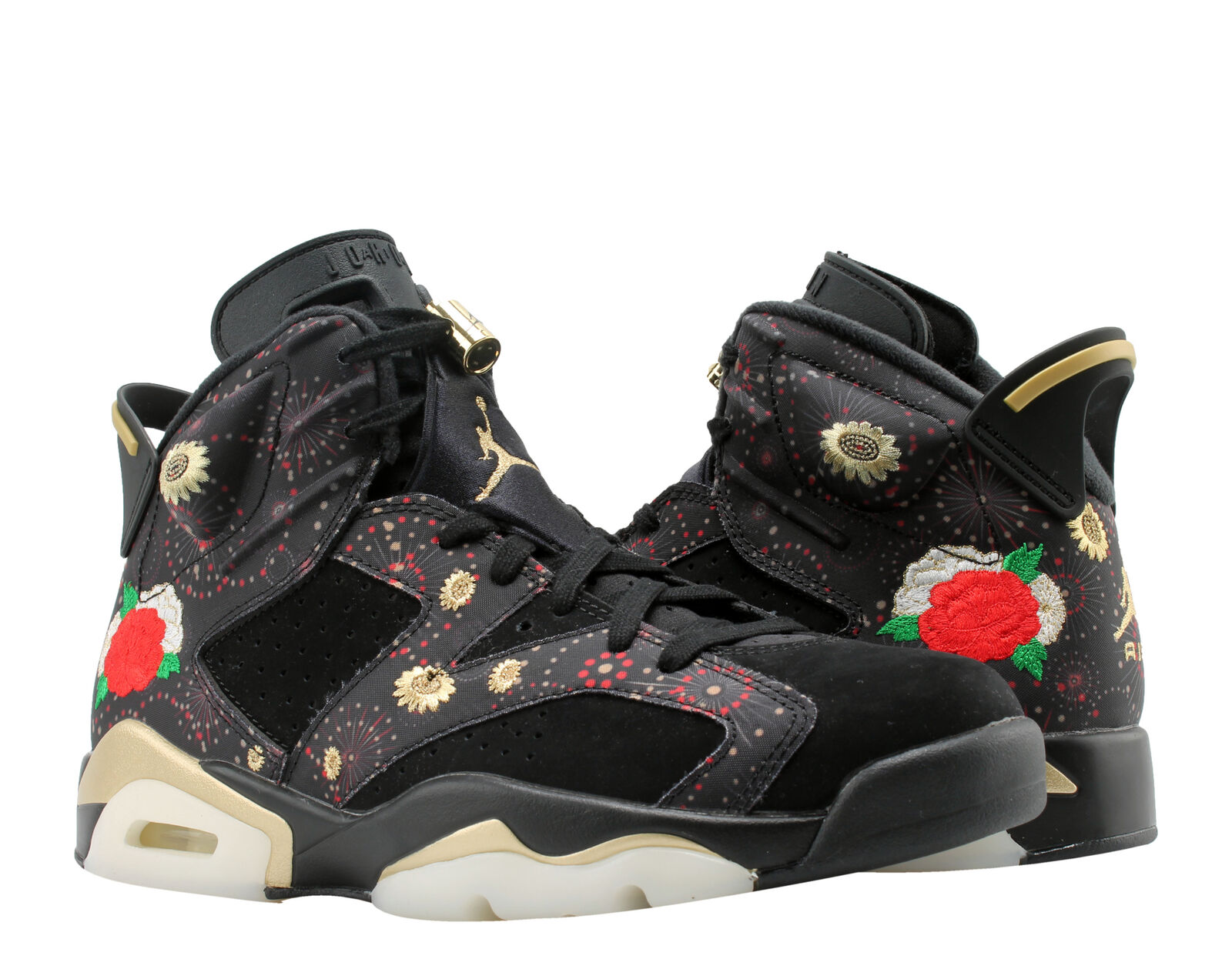 outlet store cea06 6ec93 Nike Air Jordan Retro 6 VI CNY Chinese Year Aa2492 021 Blck Gold Red Size 11