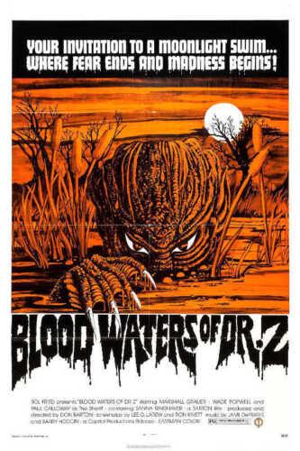1971 BLOOD WATERS OF DR Z VINTAGE HORROR MOVIE POSTER PRINT 24x16 9 MIL PAPER
