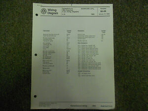 1984 VW Quantum 5 Cylinder Fuel Systems Sunroof Wiring ...