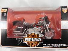 MAISTO HARLEY DAVIDSON  FLH-80  ELECTRA GLIDE 1978  MOTORCYCLE DIE CAST TOY 1:18