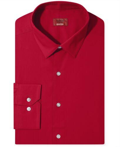 Nwt $95 Alfani Men Slim-Fit Stretch Red Long-Sleeve Dress Shirt 14-14.5 32//33 S