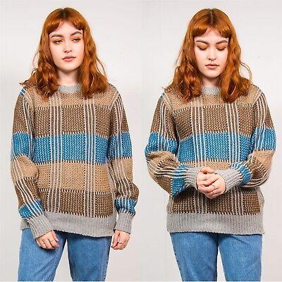 Costante Blue & Brown Controllato Maglione Casual Da Donna Stile Grunge Anni'90 Vintage 8 10-mostra Il Titolo Originale 2019 Nuovo Stile Di Moda Online