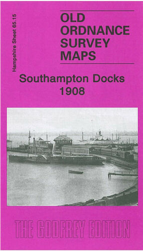 OLD ORDNANCE SURVEY MAP SOUTHAMPTON DOCKS 1908 ROYAL PIER TOWN QUAY WOOLSTON