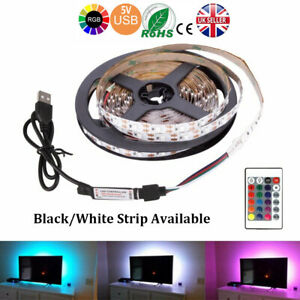 3M-5V-LED-Strip-Light-SMD5050-RGB-Waterproof-IR-Remote-Controller-TV-PC-Back-Mod